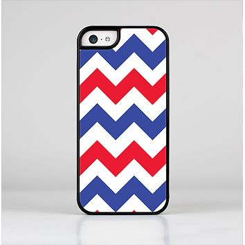 The Patriotic Chevron Pattern Skin-Sert for the Apple iPhone 5c Skin-Sert Case