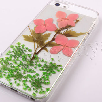iPhone 6 case iPhone 6 plus Pressed Flower, iPhone 5/5s case, iPhone 4/4s case,  5c case Galaxy S4 S5 Note 2 note 3 Real Flower case NO:F112