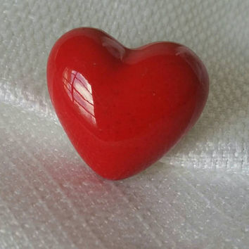 Lovely Little Red Heart Pin