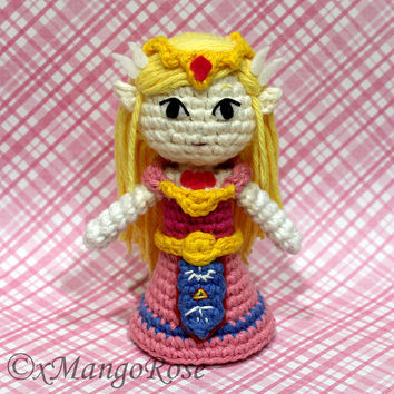 Toon Princess Zelda Amigurumi Doll Plush (Crochet Pattern Only, Instant Digital Download), from Legend of Zelda, Wind Waker, Spirit Tracks