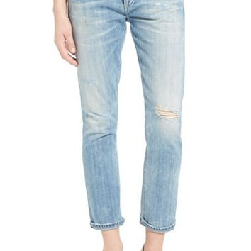 'Emerson' High Rise Slim Boyfriend Jeans (Distressed Sebring)