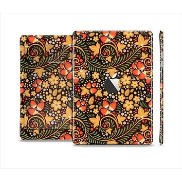 The Colorful Floral Pattern with Strawberries Full Body Skin Set for the Apple iPad Mini 2