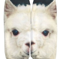Women's Photo Print Ankle Socks Animals Food (Llama)