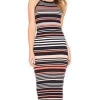 Dani Striped Sweater Dress