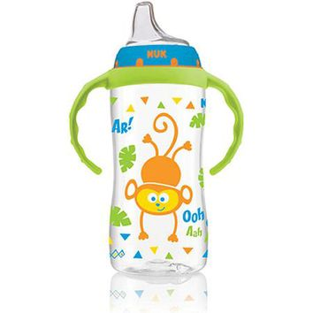 NUK Jungle Designs Large Learner Cup with Handles, 10 Ounce, 1-Pack, Silicone, Boy (Design May Vary) - Walmart.com