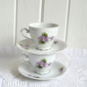 Coffee or tea cups Winterling Bavaria vintage German four piece set