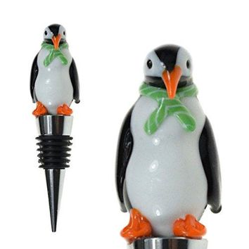 Glass Penguin Wine Bottle Stopper 20+ Designs to Choose From  Colorful Unique Handmade EyeCatching Decorative Glass Wine Bottle Stopper hellip Penguin