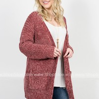 Southern Chenille Cardigan | Rose