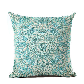 Cushion Cover Geomtric Pillowcase Bohemian Style Cotton Linen Euro Pillow Cover Printed Size 40*40 Throw Pillows Decorative