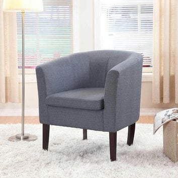 New Century® Simon Linon Sofa Club Chair Linen, Blue
