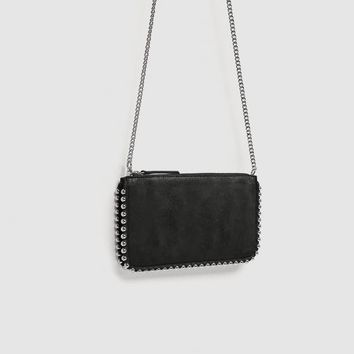 STUDDED BLACK CROSSBODY BAG DETAILS