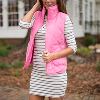 Let It Snow Vest, Pink