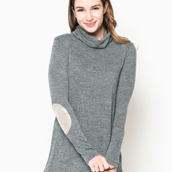 Button Back Turtleneck Sweater
