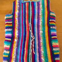 Multi Colour Crochet Cardigan