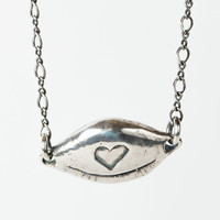 Love is Blind Necklace - Sterling Silver Cast
