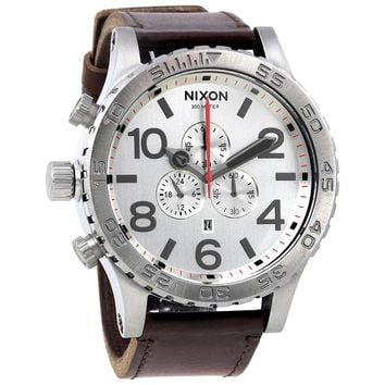 Nixon 51-30 Chronograph Silver Dial Mens Watch A1241113
