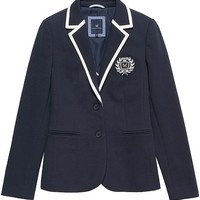 Women's Crest Jersey Blazer in Dark Navy from Crew Clothing
