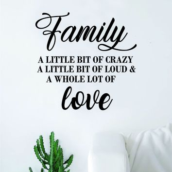 Family Love Decal Sticker Wall Vinyl Art Wall Bedroom Room Home Decor Motivational Inspirational Kids Married