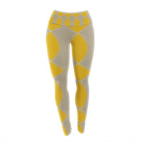 "Julia Grifol ""Geometries in Yellow"" Yoga Leggings"
