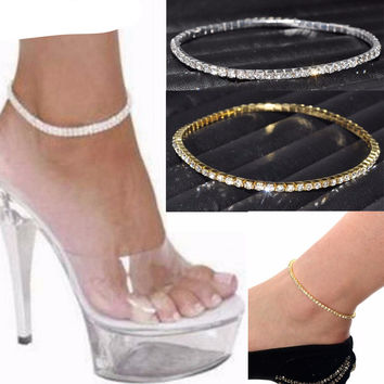 Cubic Zirconia Stretch Anklet