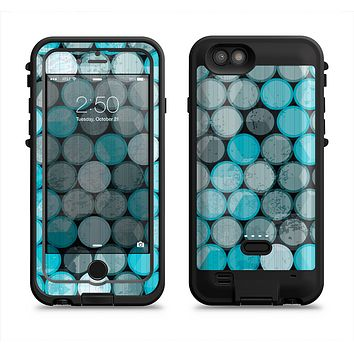 The Vintage Scratched Blue & Graytone Polka Apple iPhone 6/6s LifeProof Fre POWER Case Skin Set