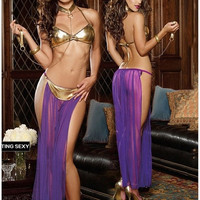 Women Sexy Lingerie Hot Bikini Sexy Costumes Erotic Lingerie Temptation Dress Perspective Lace Dress [9222180228]