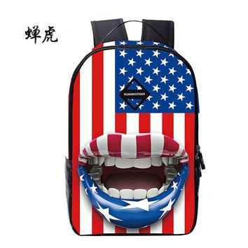 Quality National Flag Printing Backpack Women School Bags for Teenage Girls Boys Cute Bookbags Vintage Laptop Backpacks mochila