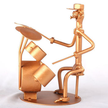 Drummer - MetalDiorama Metal Art Sculpture