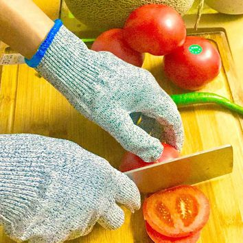 NMSafety Meat Cutting and Wood Carving Cut Resistant Gloves Food Grade Level 5 Protection Safety Kitchen Cuts Gloves