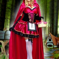 Little Red 2 Pc. Sexy Plus Size Costume