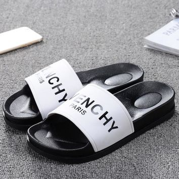 Givenchy Paris Women Men Casual Fashion Print Sandal Slipper Shoes G-1
