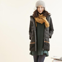 medium long hoodie winter coat for women