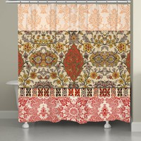 Red Spice Bohemian Tapestry Shower Curtain