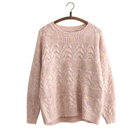 Korean Autumn Pullover Sweater Tops Knit Jacket [8216432897]