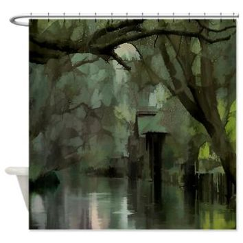 Green Living On The Bayou Shower Curtain> Tropical> Tropical Design Studio