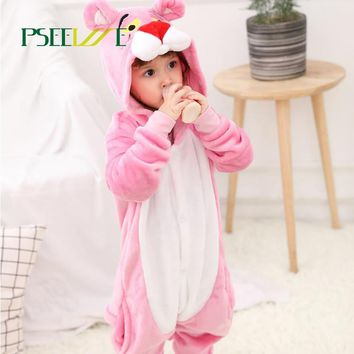 PSEEWE 28 styles Animal Baby Sleepwear Children's Onesuit Cosplay Kids Boys Girls Pajamas Christmas Totoro Pikachu Panda pyjama