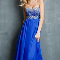 Strapless Sweetheart Night Moves Dress 7048