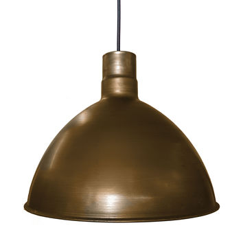 "Dome 16"" Metal Shade Pendant Light- Bronze"