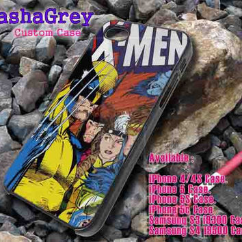 X Men Comic cover _ iphone case iphone 4/4s,5/5s,5c, Samsung S3,S4 Case Accesories Design By : sashagreystore