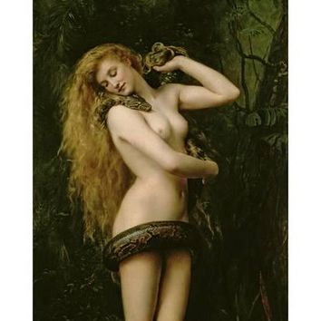 Lilith, 1887 (Detail) Giclee Print by John Collier at Art.com