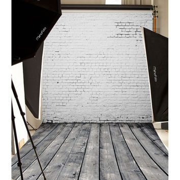 Mehofoto Customized Vinyl Photography Backdrop Brick Wall Computer Printed Background for Photo Studio Backdrops L506