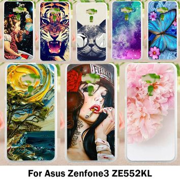 Mobile Phone Cases For Asus Zenfone 3 ZE552KL Cover Zenfone3 ASUS_Z012D 5.5 inch Cases Lovely Minions Plastic Soft TPU Bags Skin