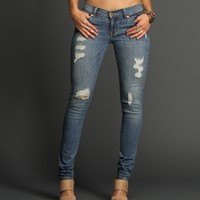 Sale-denim Destructed Skinny Jeans