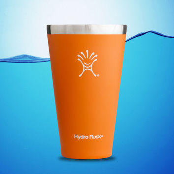 Hydro Flask 16 oz True Pint Insulated Stainless Steel Water Tumbler Orange Zest