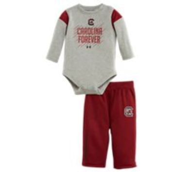 Under Armour Boys' Newborn South Carolina Forever Bodysuit Pant Set