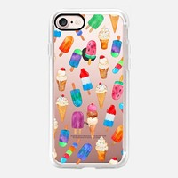 Watercolor Summer Ice Creams 2 - transparent iPhone 7 Case by Micklyn Le Feuvre | Casetify