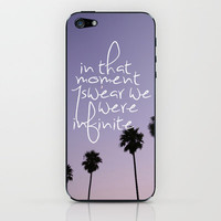 the perks of being a wallflower iPhone & iPod Skin by Island Art | Society6