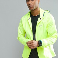 Nike Running Shield Racer Jacket In Yellow 800492-703 at asos.com