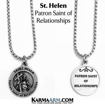 St. Helen Necklace | Patron Saint of Relationships | Miracle Medal Jewelry