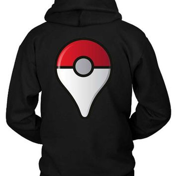 VONEED6 Pokemon Go Location Hoodie Two Sided